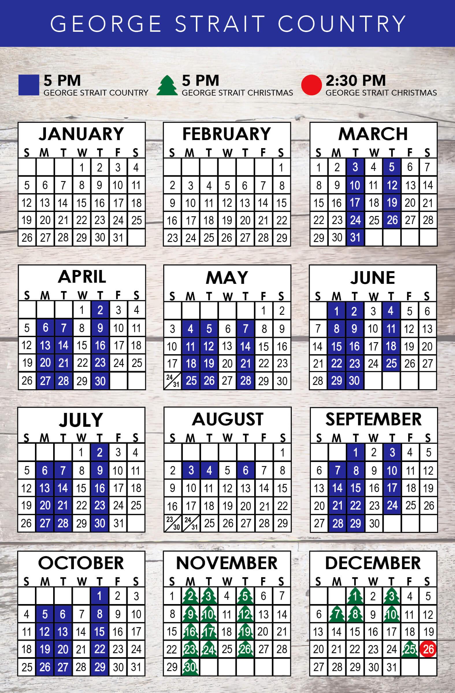 George Strait Country 2020 Schedule