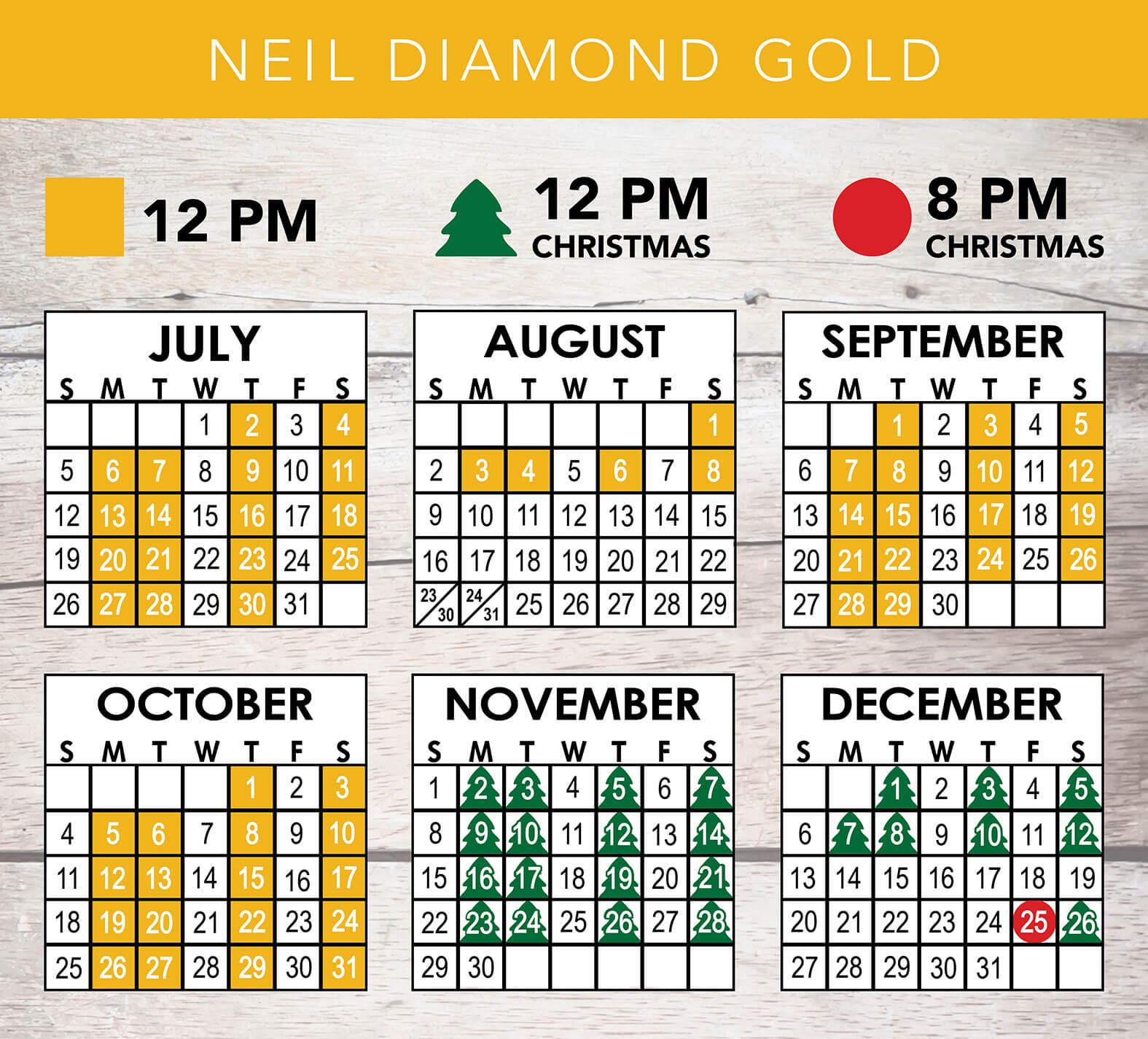Neil Diamond Gold 2020 Schedule