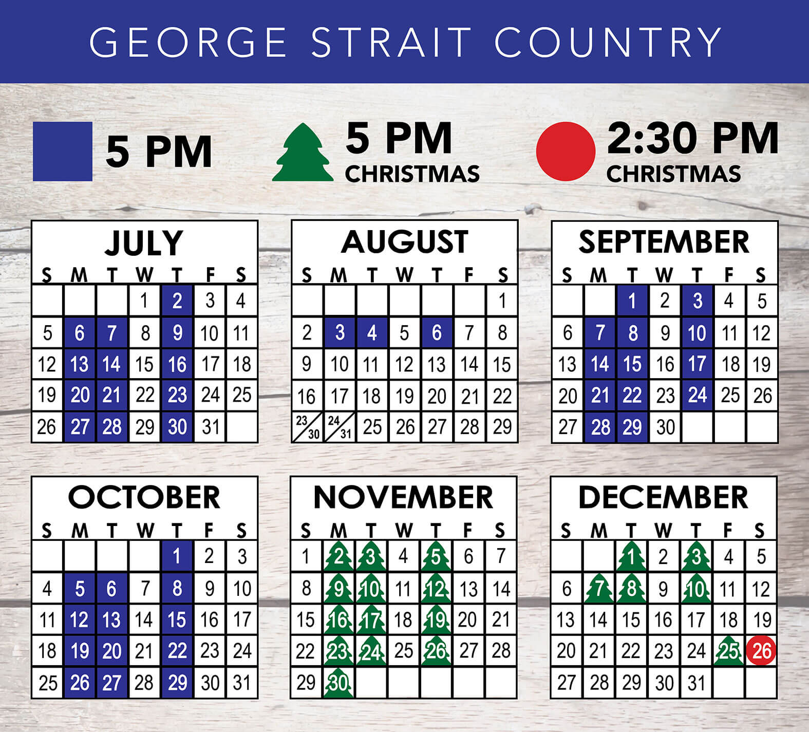 George Strait Country 2020 Schedule