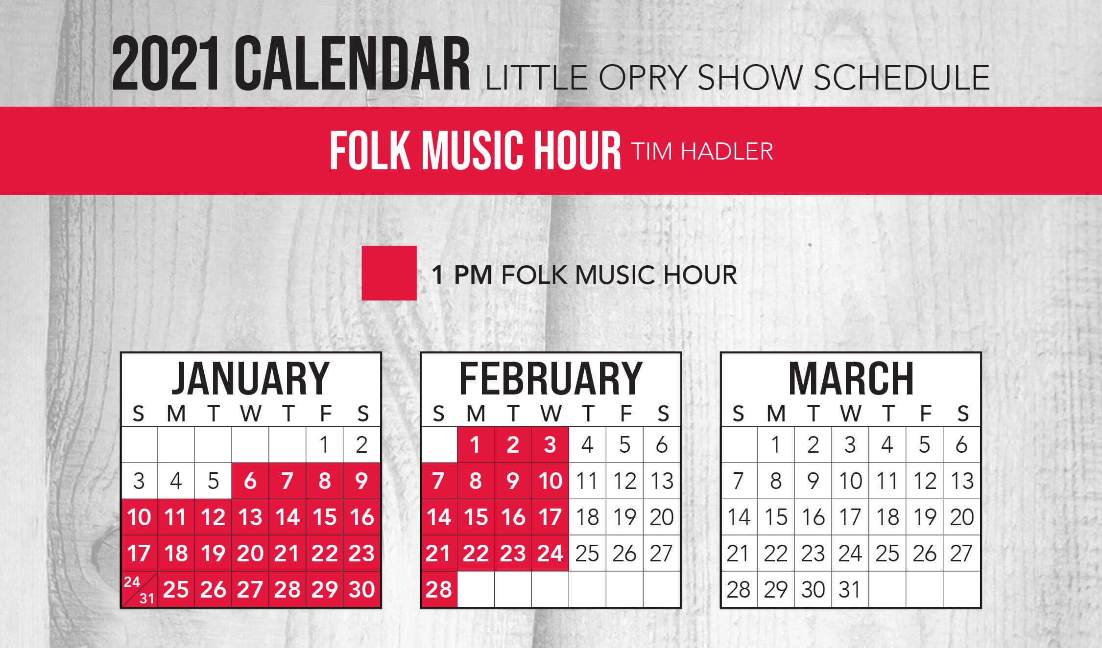 Folk Music Hour 2021 Schedule