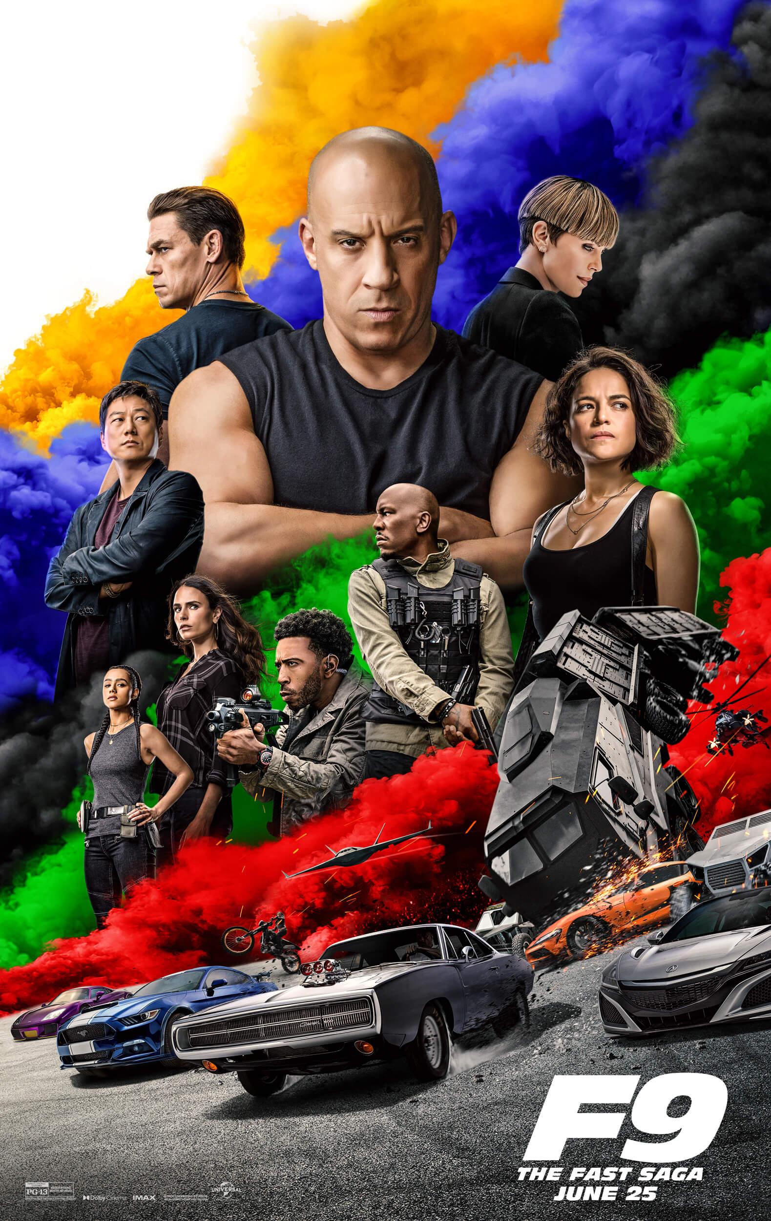 F9 : Fast Saga Movie Poster